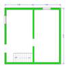 планировка 1-го этажа брусового дома 6х6