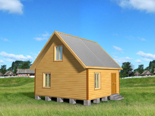 дом из бруса 6х6 - общий вид