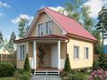 """Дачный дом """"Ладога-2"""" 6х8,5 м2"""